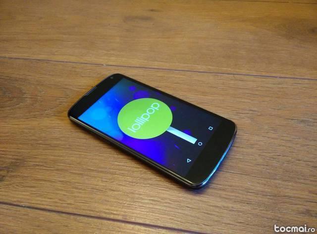 Nexus 4 - aproape impecabil - pachet complet - garantie 1 an