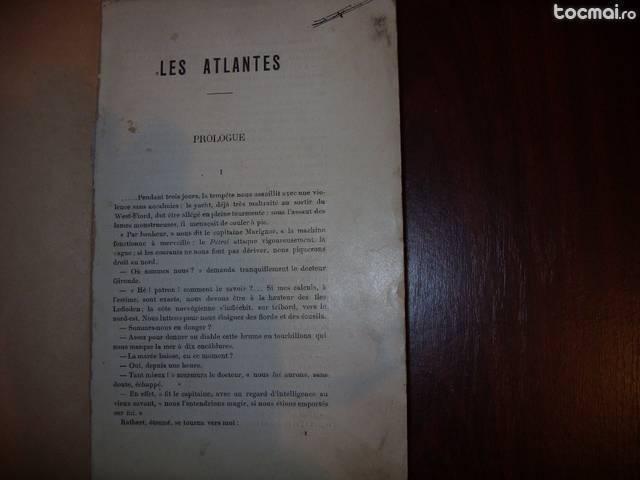 Les Atlantes ( extrem de rara, cu ilustratii, lb. franceza )