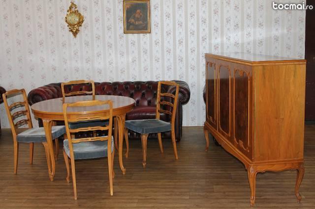 Sufargerie Rococo. Masa cu 4 scaune si dulap