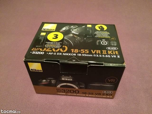 Nikon D3200, 24. 2MP + Obiectiv 18- 55mm VR