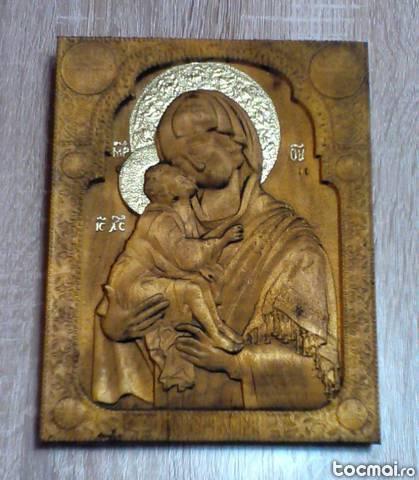 Fecioara maria cu pruncul - icoana in stil bizantin