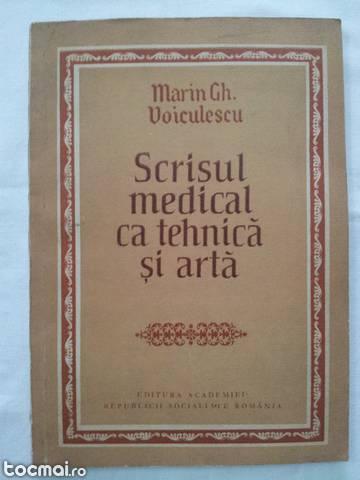 Scrisul medical ca tehnica si arta