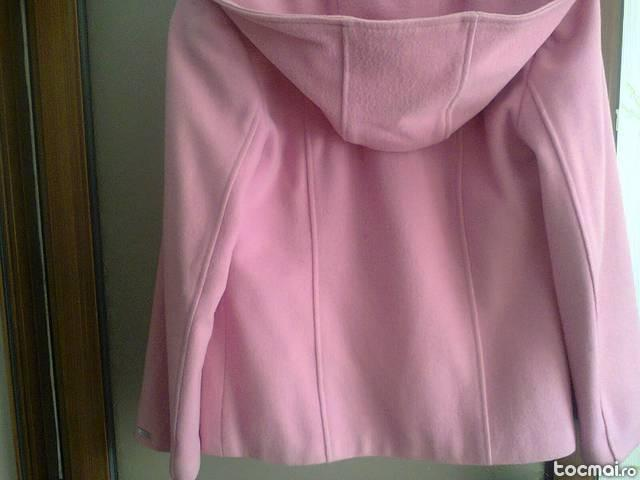 Palton scurt roz Moda Aliss