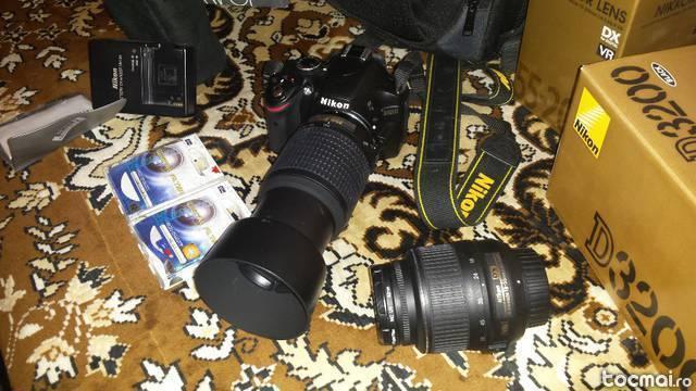 kitt Nikon D3200 + obiectiv 18- 55 VR+ obiectiv 55- 200VR