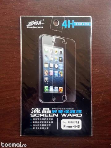 Iphone 4 4s folie protectie + servetel curatat ecran