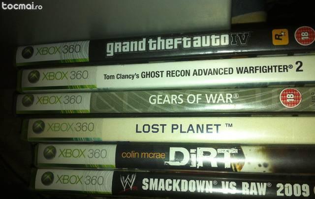 Xbox 360 slim 6 jocuri stare perfecta - schimb cu telefon