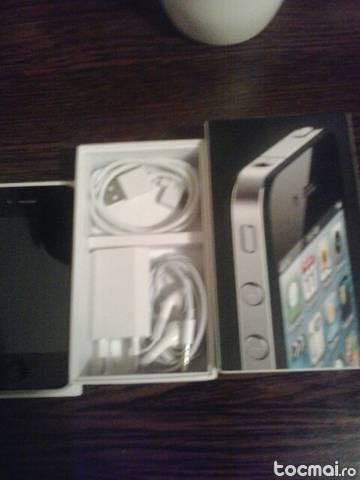 iphone 4 black 16gb pachet complet.