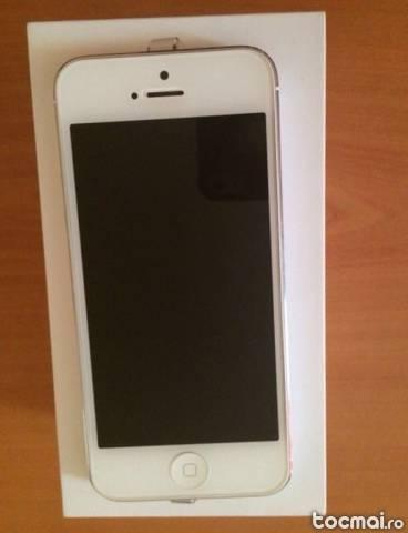 Iphone 5, alb, 16gb, neverloked, impecabil
