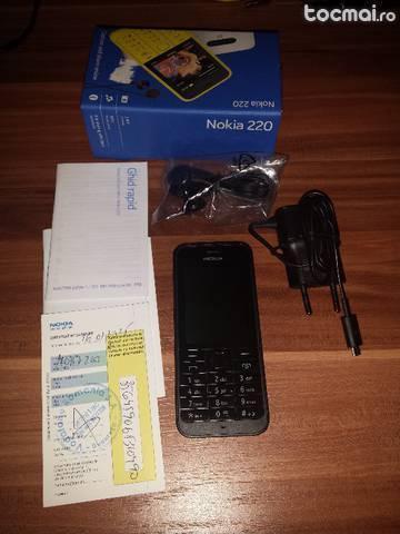 Nokia 220 black nou in cutie cu garantie