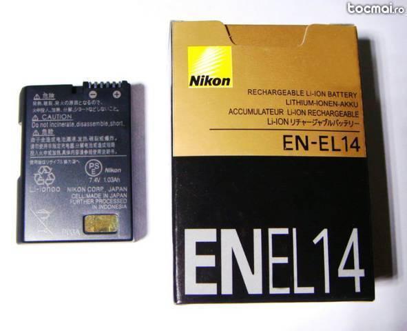 Acumulator nikon en- el14 d5100 d3200 d3100 p7000 p7100 nou