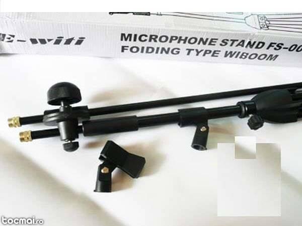 Stativ (suport) pt microfon. Suporta 2 microfoane simultan