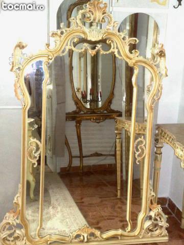 Consola cu oglinda monumentala, 2, 65m H, stil baroc venetian
