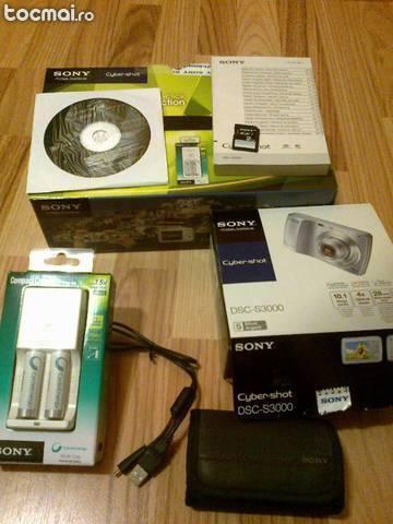 Pachet complet Camera foto Sony CyberShot DSC S3000