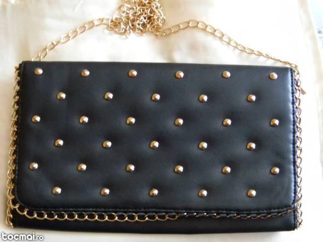 geanta de umar neagra cu tinte aurii