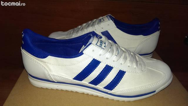 Adidasi Adidas SL72 Panza Alb cu Albastru Model Nou