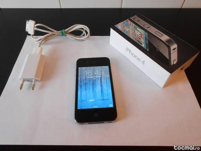 Iphone 4 , 16 GB, negru , stare foarte buna , nu este codat
