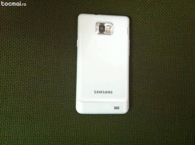 Samsung s2 plus, alb, impecabil