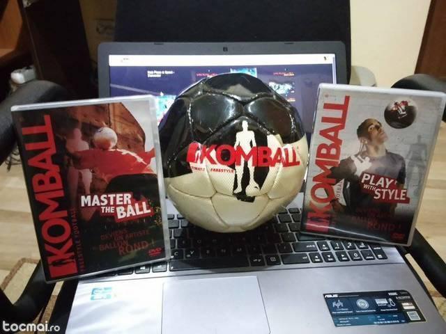 Minge si 2 cd- uri komball (freestyle football)