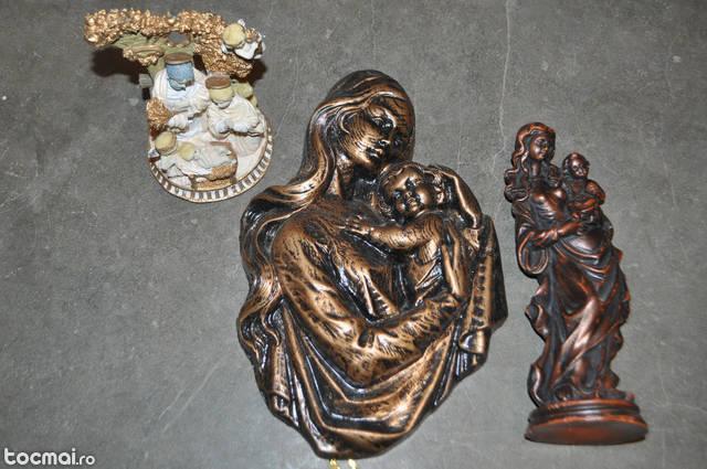 Lot de 3 icoane cu fecioara Maria si pruncul Isus