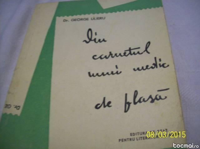 din carnetul unui medic de plasa- g. ulieru- 1958