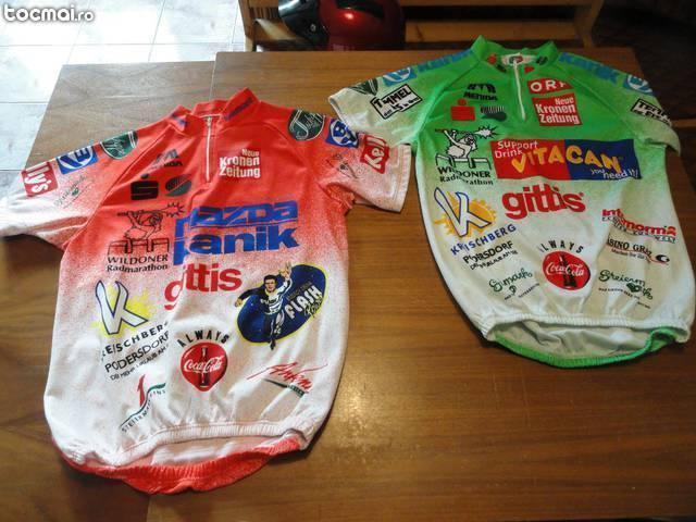 Doua tricouri pentru ciclism- marime m- oferta