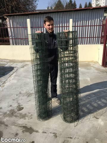Gard flexibil pentru gradina cu stalpi din lemp