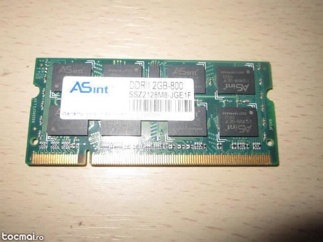 Memorie Laptop 2Gb DDR2 Hynix 2Rx8 PC2- 5300S- 555- 12
