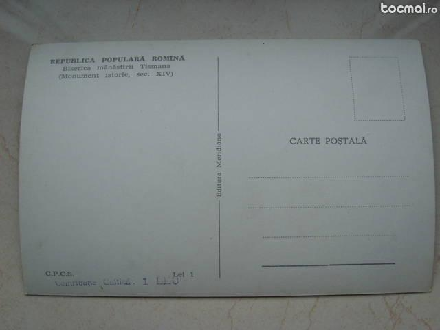 C. postala , necirculata , rpr , biserica manastirii tismana