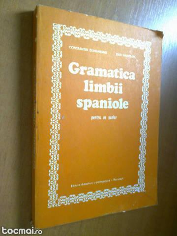 Gramatica limbii spaniole - constantin duhaneanu 1980